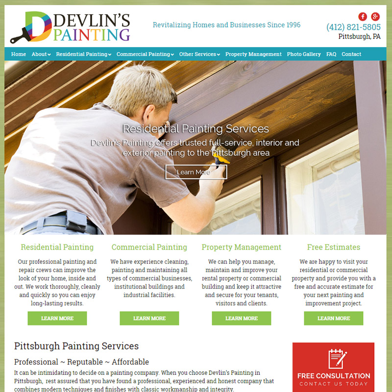 Contact Devlins Painting Co - The pittsburgh painting co